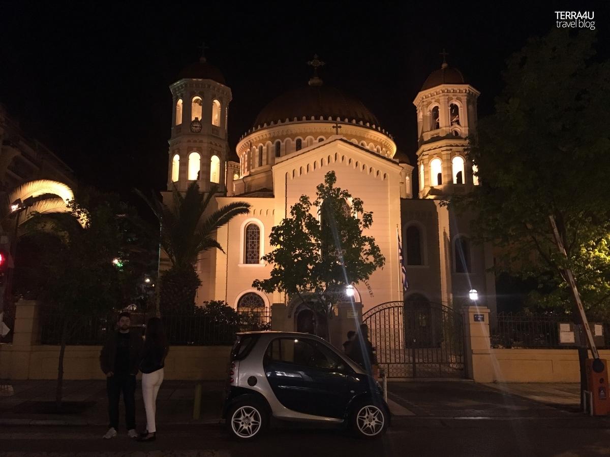 Салоники. Ночной город