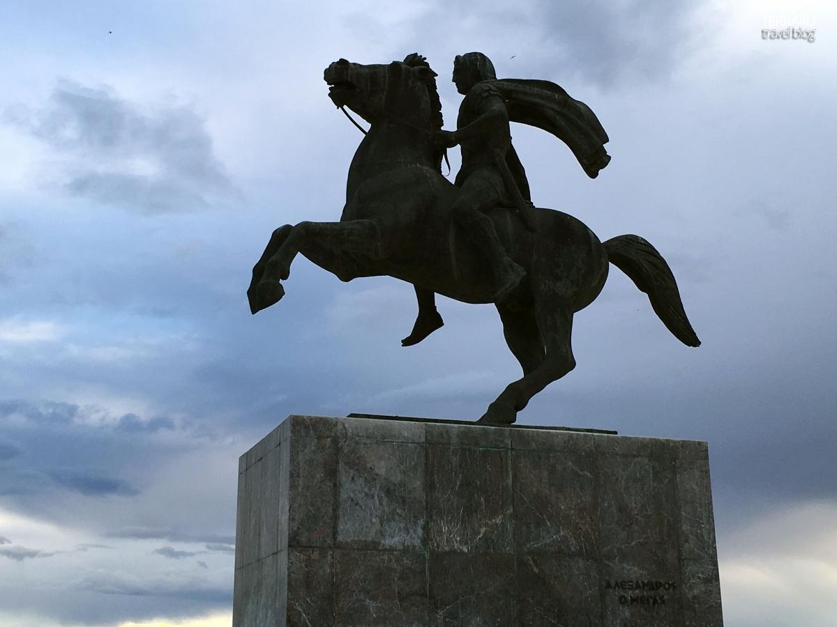 Салоники. Памятник А.Македонскому